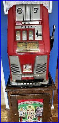 Mills 5 Cent Slot Machine, Good Condition, Recently Stopped Working