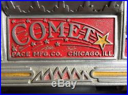 Mills 5 Cent Slot Machine with Comet Pace Jackpot Front circa 1930