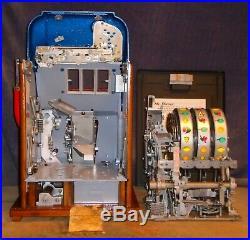 Mills 5-cent 777 hi-top antique slot machine, 1948