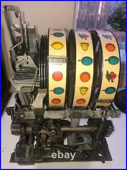 Mills 5-cent CASTLE FRONT antique SLOT MACHINE, 1930s NICE! Good condition