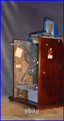 Mills 5-cent JACKPOT CASTLE FRONT antique slot machine, 1935