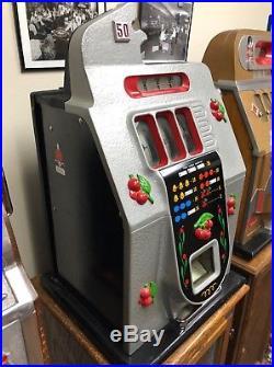 Mills 50 Cent Black Cherry Slot Machine Restored Original