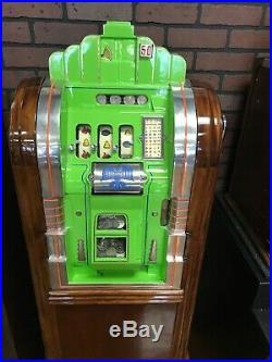 Mills 50c Vintage Extraordinaire Slot Machine. Converted From English Penny