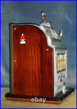 Mills 5c AUTOMATIC SALESMAN antique slot machine with SIDE VENDER, 1924 NEW PRICE