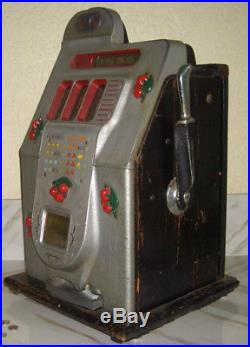 Mills 5c BLACK CHERRY Antique Slot Machine $895