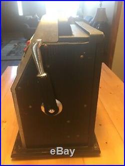 Mills 5c BLACK CHERRY antique slot machine, Chicago 1946