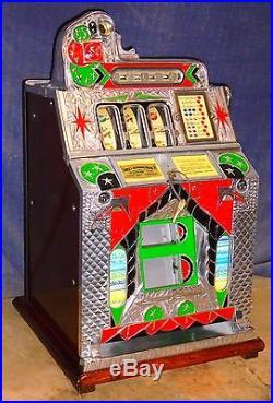 Mills 5c Double Eagle FOK antique slot machine, ca 1932, rare branded model