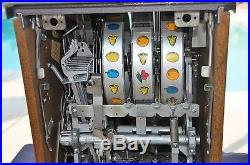 Mills Antique Slot Machine silver palace 25c