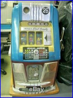 Mills Black Beauty 25 Cent Slot Machine