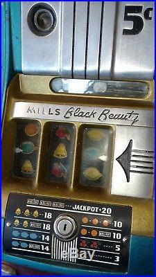 Mills Black Beauty High Top 5¢ Nickel Slot MachineOne Armed Banditvideo