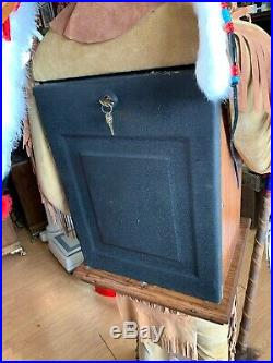 Mills Black Cherry 10 Cent Antique Slot Machine With Wooden Indian Rare