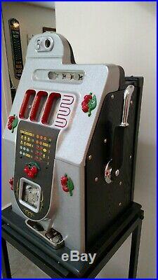 Mills Black Cherry 5 Cent Antique Slot Machine