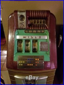 Mills Bonus Hi-htop. 25 Slot Machine