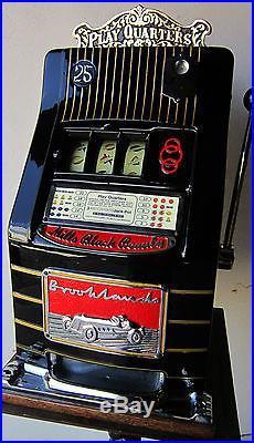 Mills Brookland 25c Automotive Slot circa 1950's (Watch Video)