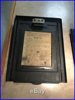 Mills Buckley Antique slot machine 5 Cent/Nickel 1940s Black Cherry Criss Cross