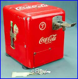 Mills Coca Cola Vest Pocket Bell Fruit Nickel Slot Machine Key Parts or Repair