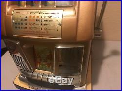 Mills Criss Cross 25 Cent High Hi-top Antique Slot Machine Coin Op Restored Look