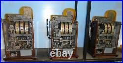 Mills DEUCES WILD DIAMOND FRONT full set antique slots, 25c, 10c, 5c, 1937