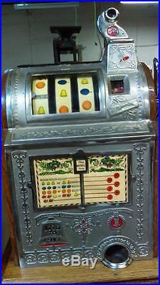 Mills Fok antique 5 cent slot machine