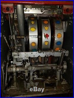 Mills Hi Top. 25 cent slot machine working please read description. Converted
