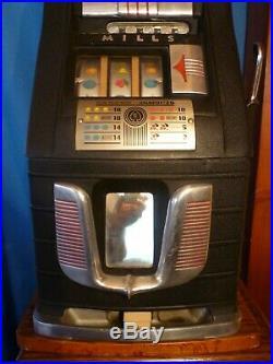 Mills High Top 5 cent Slot Machine circa 1930, Mfg Ace Novelty