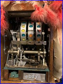 Mills Indian Chief War Eagle Slot Machine ORIGINAL Unrestored Condition