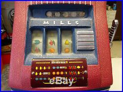 Mills Jewel Bell 5 Five Cent Slot Machine Antique 1940s Nickel Slot machine NICE