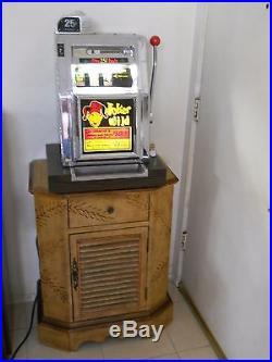 Mills Joker Wild Antique Slot Machine with Stand