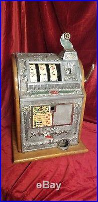Mills Liberty Bell Five Cent Slot Machine Circa 1920s Gorgeous