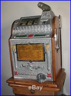 Mills Liberty Bell Orig. 50c Antique Slot Machineca 1922Rare 1/2 dollar