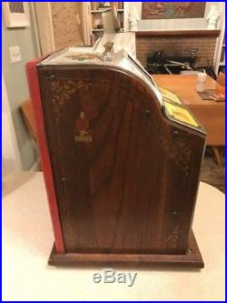 Mills Novelty Antique 50 Cent Slot Machine As Is Read