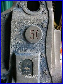 Mills Novelty Chicago 5 Cents Nickel Slot Machine Stars Parts or Repair with Keys