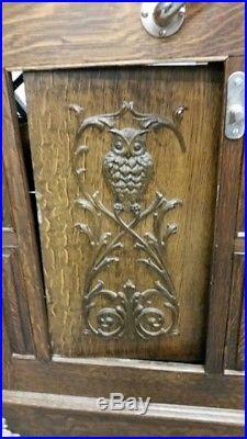 Mills Novelty Co. Owl Slot Machine Antique 1898