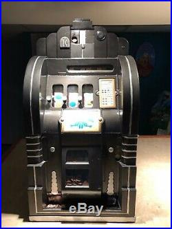 Mills One Cent Penny Extraordinary Slot Machine with Gold Award Works, Can Ship