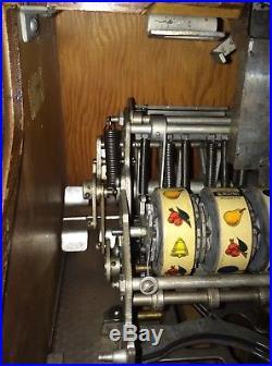 Mills QT Smoker Antique 5 Cent Gambling Slot Machine Secret Side Payout
