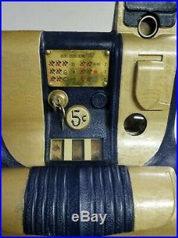 Mills Qt 5 Cent Antique Slot Machine Coin Op Restored Look