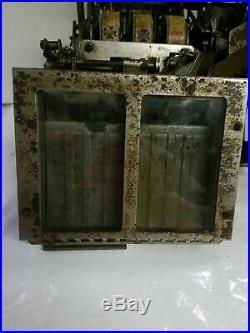 Mills Qt Slot Machine 5 Cent Mechanism Coin Op Rare Find
