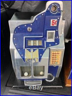 Mills Qt Thunderbird 5 Cent Slot Machine Unrestored Original