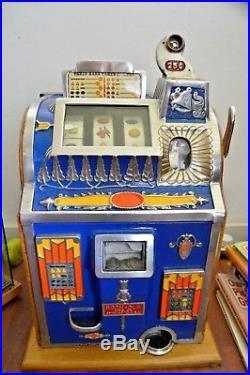 Mills Rockola 1930's Jackpot Reserve Slot Machine Antique