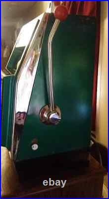 Mills Slot Machine 1952 Mills Compact Antique 10 Cent Dime vegas gamble