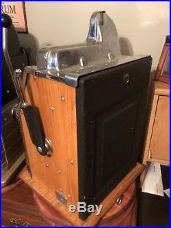 Mills Slot Machine Mystery Castle Front Front Load Jackpot Quarter GREAT RESTORE