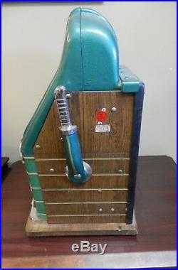 Mills Token Bell 25 Cent Slot Machine, Restored