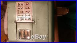 Mills Vest Pocket Nickel Slot Machine Vintage w Lock & Key