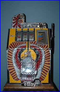 Mills War Eagle 25 Cent Slot Machine With Stand Price Drop