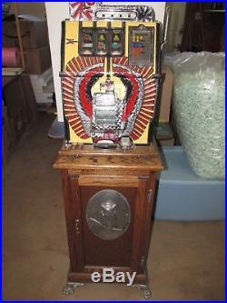 Mills War Eagle Slot Machine, 1969 Reproduction 25 cent machine