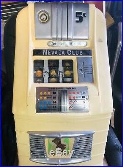 Mills slot machine Nevada Club 5 Cent Machine