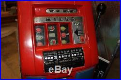 NICE 1940's RARE ANTIQUE 10 cent MILLS SLOT MACHINE WORKS AND PLAYS GREAT