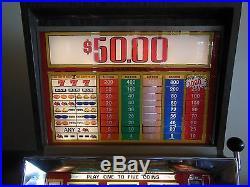 Nickel Slot Machine California Hotel Casino Play up to 5 Coins $50.00 Jackpot