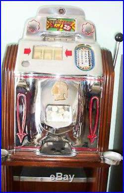 O. D. Jennings 1949 set of 5 Indian Chief One Arm Bandit slot machines