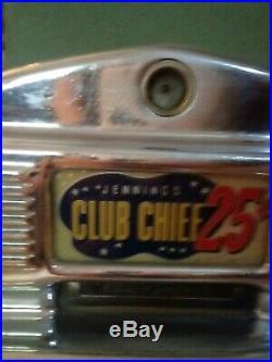 O D Jennings & Co. Club Chief 25 Slot Machine Lighted